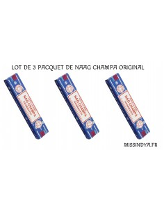 Nag Champa satya original baton d'encens lots de 3 paquet  - 1