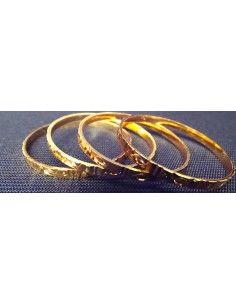 Bracelet Plaqué OR 4 pièces...