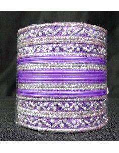 Bangles Argenté et violet 16