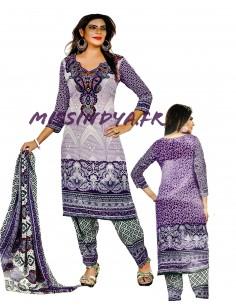 Salwar Kameez indienne pas cher MIRCHI Violet  - 1