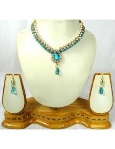 collier set bijoux enfant bleu