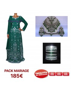 Pack Mariage VERT et Argenté