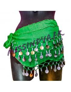 Ceinture de danse orientale belly dance vert doré  - 1