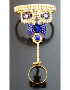 Bijoux de main Doré & Bleu...