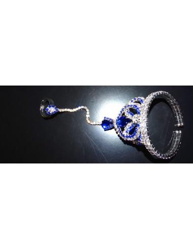 Bijoux de main Argenté & Bleu