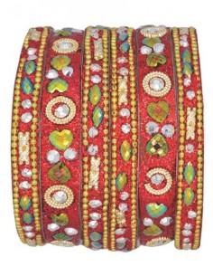 Bracelets enfant Rouge perlé
