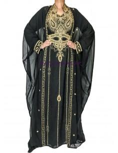 robe de dubai cape noir &...