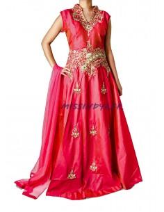 Robe de Soirée Rose et doré...