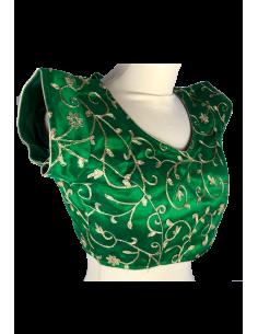Choli Blouse Sari  Vert doré