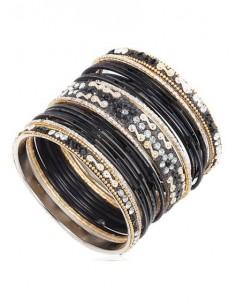 Bracelets enfant noir doré...