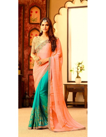 Parure indienne Bijoux Bollywood 4 pièces Argenté Vert sonali