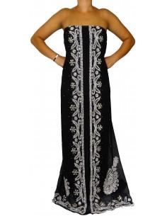 Tissus sari  Noir &...