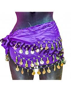 Ceinture de danse orientale pas cher belly dance Violet  - 1