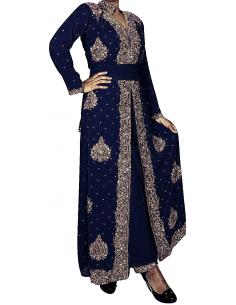 Robe de Soirée dhamak Bleu...