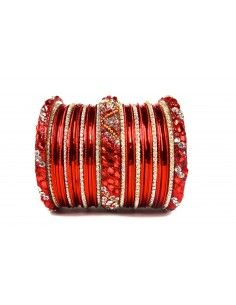 Bangles Perlé Rouge