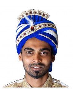 Pagdi Chapeau indien Bleu