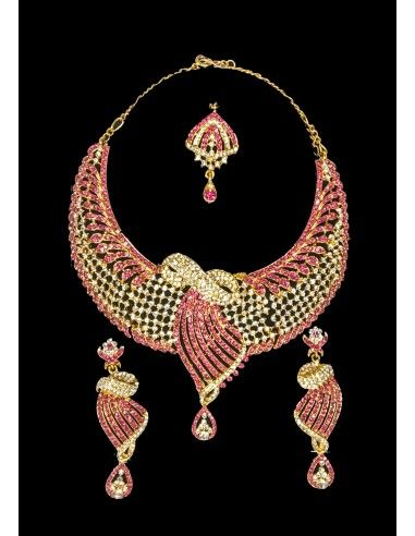 Parure bijoux libas oriental rose