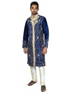 Sherwani homme Bleu marine...