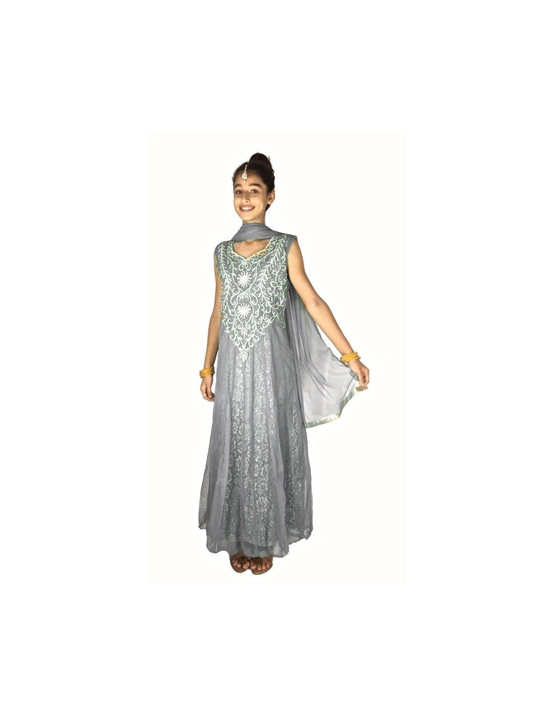 Parure Bijoux Indienne Esha Bleu Vert