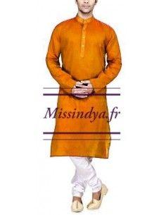 Tunique homme orange