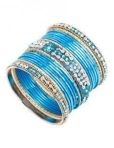 Bracelets enfant bleu doré...