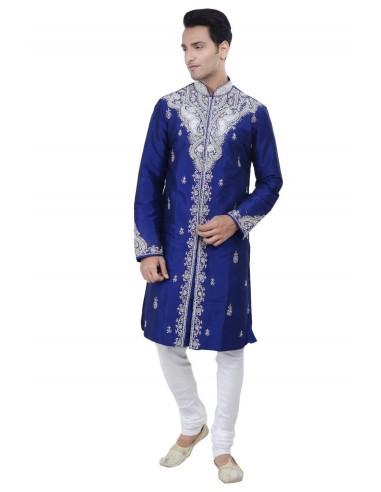 Sherwani Kurta Homme Rahul Bleu