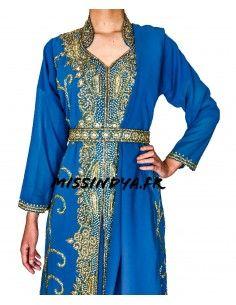 Parure Bijoux pas cher Argenté & Bleu royal