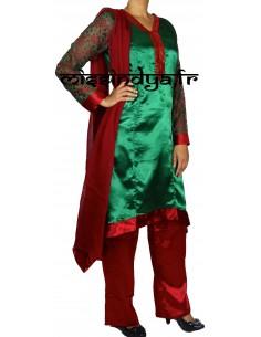 Salwar Kameez pas cher Vert...
