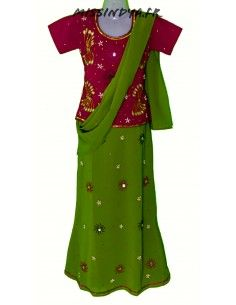 Lehenga sari indien fille...
