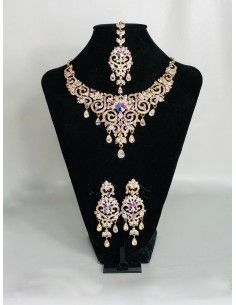 Parure Bijoux indiens Bollywood dore MR19  - 1