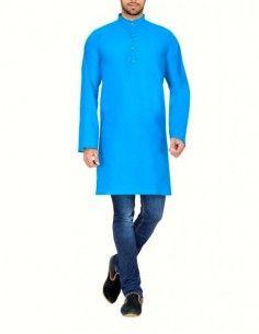 Tunique homme bleu turquoise