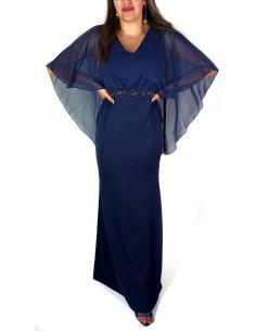 Robe de Soirée Strass Bleu