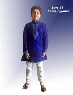 Kurta garcon bleu pavitra  - 1