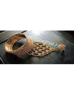 Bijoux de main Strass doré  - 1