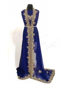 Tissus Sari Bleu luxe Amiraa