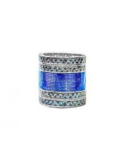 Bangles Argenté et Bleu