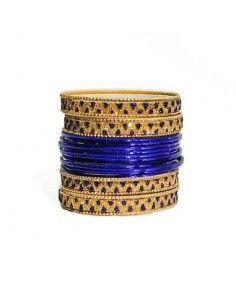 Bangles Doré et Bleu  - 1