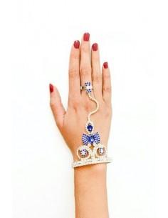Bijoux de main Argenté & Bleu  - 3