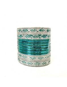 Bracelets indien Bleu vert at argenté  - 1