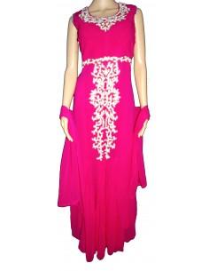 Robe de Soirée indienne Rose