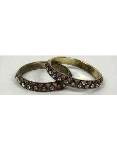 Lot de 2 bracelets Rouge  013