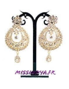 Boucles d'oreilles dorées  MAR191  - 1