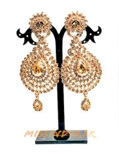 Boucles d'oreilles doré ambre MAR191  - 1