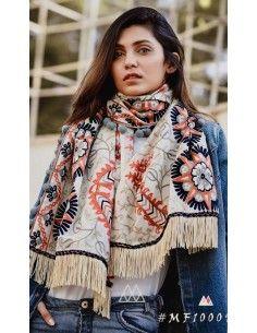 Khadi pashmina foulard indienne ethnique sagra  - 1