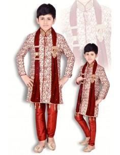 Sherwani garçon rouge