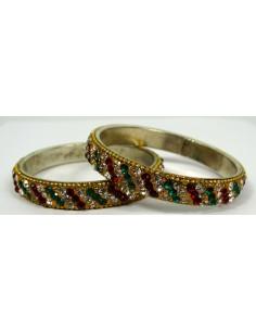 Lot de 2 bracelets Perlé 007