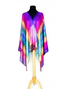 écharpe rainbow multicolor foncés  - 1