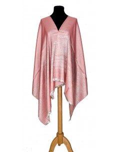 châle indien motif cachemire rose pâle  - 1