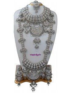 Parure Bijoux indiens 8 pieces Argenté  - 1