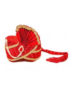 Pagdi Chapeau indien Rouge  - 1